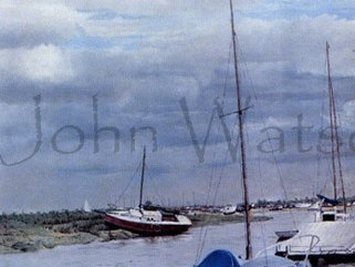 Blakeney, Norfolk  (pastel drawing) Image.