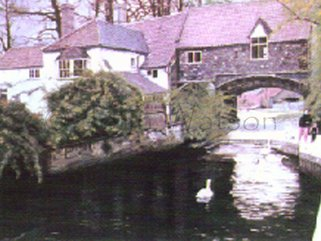 Pulls Ferry, Norwich. (oil painting) Image.