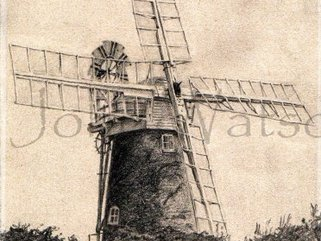 Stracey  Mill,  Norfolk (pencil drawing) Image.