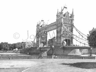 Tower Bridge, London, (A1 pencil drawing) Image.
