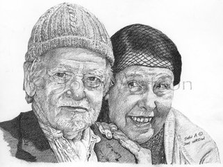 Compo and Nora  (pencil drawing) Image.