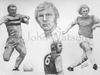 Other Footballers, in pencil, watercolour Image.
