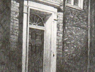 Door in Cathedral Close Image.